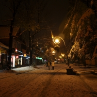 First snow in Zakopane (Poland)